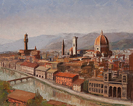 Florence From Piazza Michelangelo by Katherine Seger