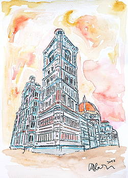 Florence Italy Tuscany Santa Maria del Fiore  by M Bleichner