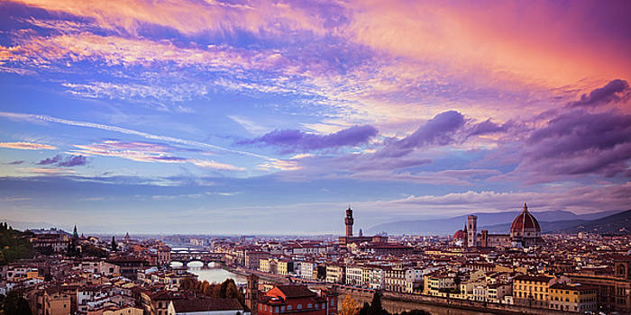 Florence Skyline at Sunset by Andrew Soundarajan