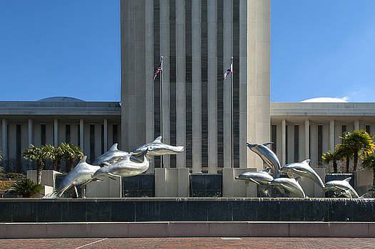 Florida Capitol Dolphin Fountain by Frank Feliciano