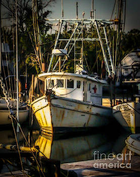 Florida Fishing Boat by Eric Geschwindner