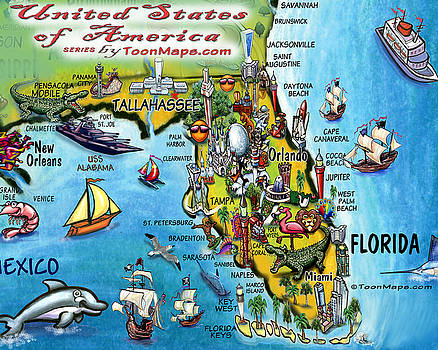 Kevin Middleton - Florida Fun Map