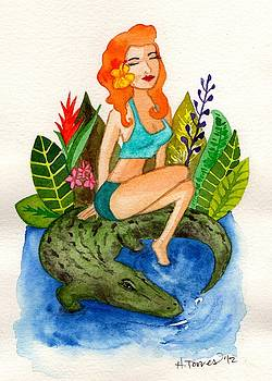Florida Girl and Her Gator by Heather Torres