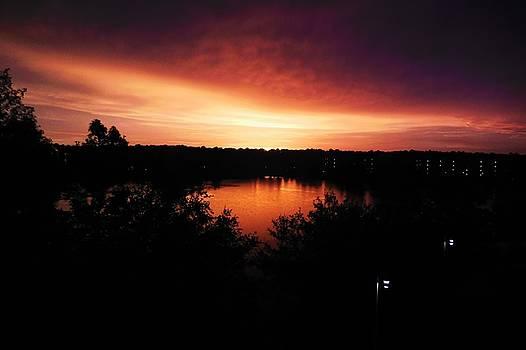 Florida Sunset Lake by Barkley Simpson