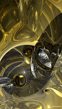 Flow of silver and gold by Marisa Gabetta