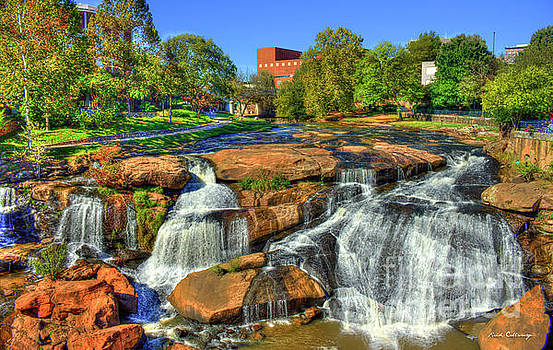 Reid Callaway - Flow On Reedy River Falls Park Art Greenville South Carolina Art