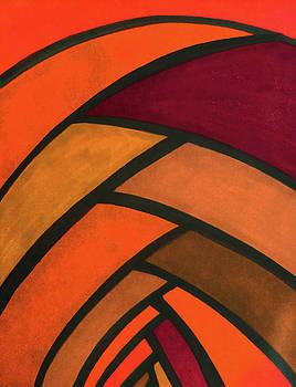 Flow, orange-red by Megan Howard