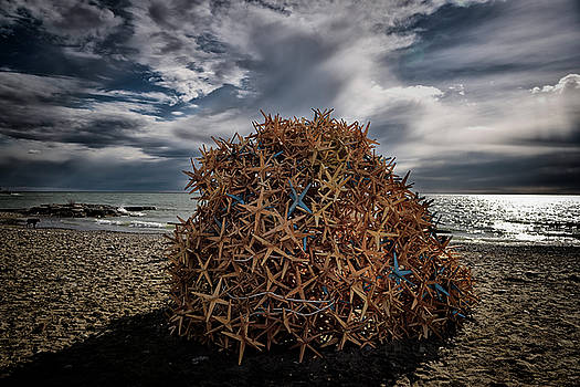 Reimar Gaertner - Flow sculpture of plywood crystals at Kew Beach Toronto 2016 Win