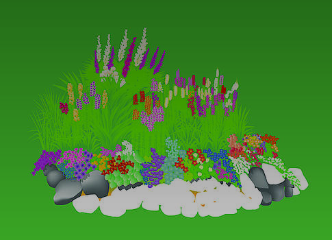 Flower Bed by David Strong