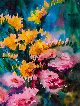 Freesias by Vickie Myers