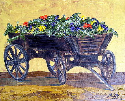 Flower Cart by Maria Soto Robbins