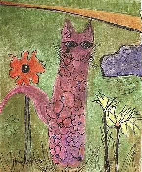 Flower Cat by Denise Marie Johnson