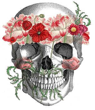 Flower Child Skull by Karen Tullo