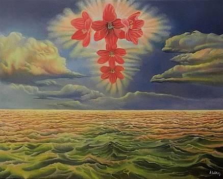 Flower cross by Alexander Dudchin
