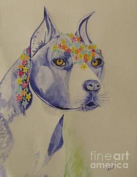 Flower Dog 1 by Hilda and Jose Garrancho