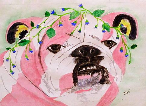 Flower Dog 3 by Hilda and Jose Garrancho