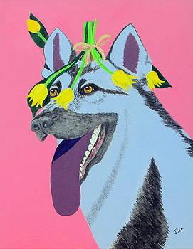 Flower Dog 4 by Hilda and Jose Garrancho
