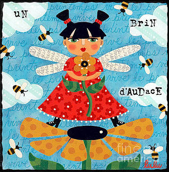 Flower Fairy with Bees by LuLu Mypinkturtle