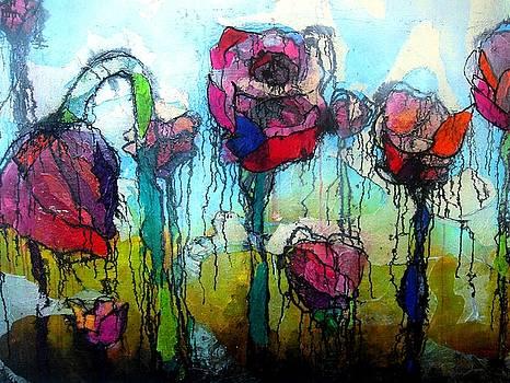 Flower Field by Lizzie  Johnson