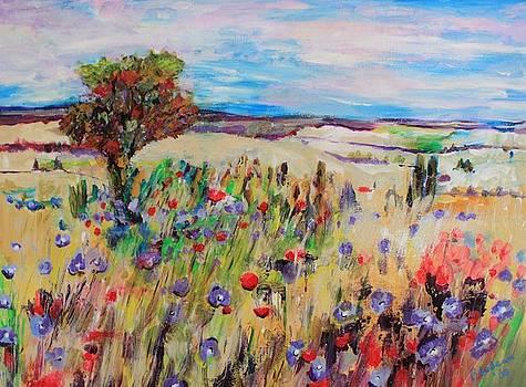 Flower Field by Martine Bilodeau