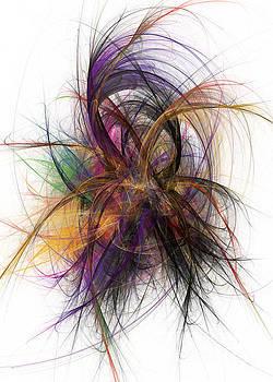 Justyna Jaszke JBJart - Flower fractal abstract art