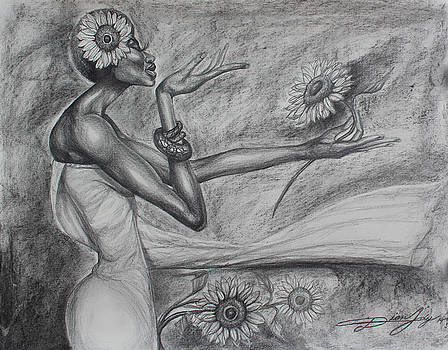 Flower Girl Sunflower by The Art of DionJa'Y