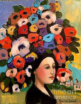 Flower lady in the village by Marilene Sawaf