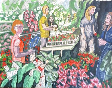 Flower Market by Enrique Ojembarrena