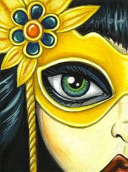 Flower Masquerade by Elaina  Wagner