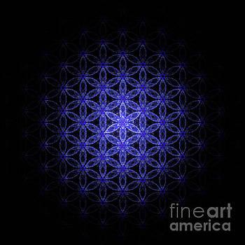 Alexa Szlavics - Flower of life in blue