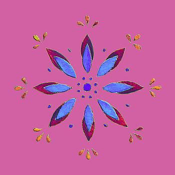 Flower on Pink by Elizabeth Lock