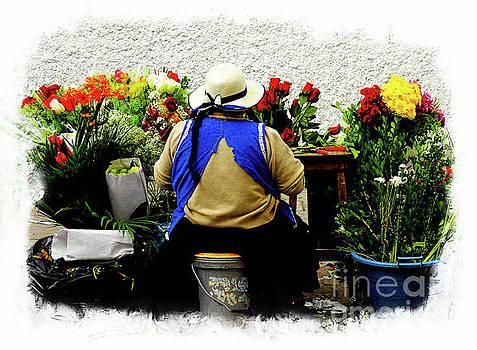 Flower Seller, Cuenca, Ecuador II by Al Bourassa