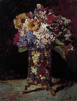 Joseph Thomas Monticelli - Flower Still Life