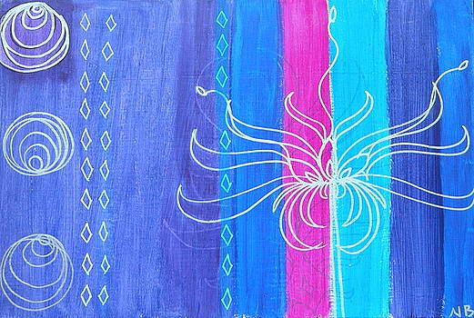 Flower Stripes by Nina Bravo