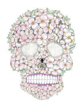 Flower Sugar Skull by Stephanie Troxell