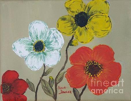 Flower Trio by Alicia Fowler