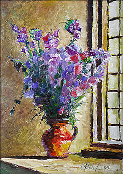 Flower vase at the window by Peter Black