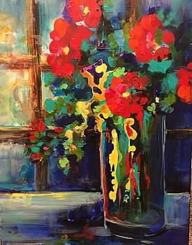 Flower Vase by Evening Light by Karen Ahuja
