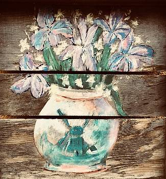 Flower Vase with flowers by Chuck Gebhardt