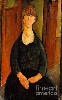 Amedeo Modigliani - Flower Vendor, 1919