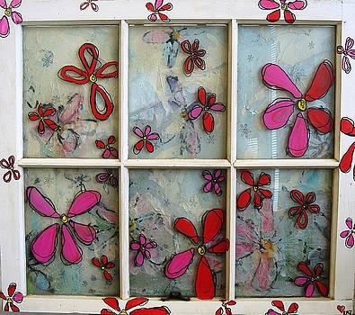 Flower Window II by Lizzie  Johnson