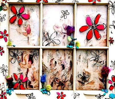 Flower Window by Lizzie  Johnson