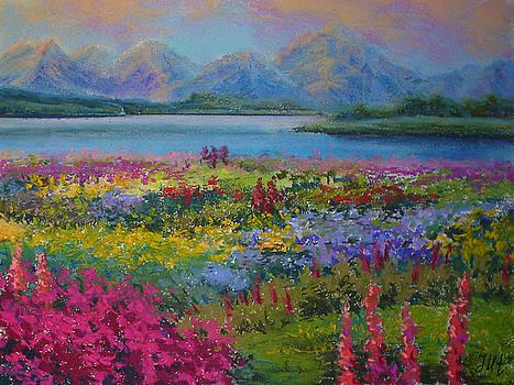 Flowering evening by Julia Utiasheva
