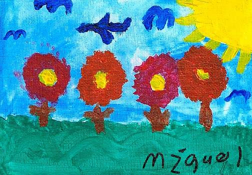 Artists With Autism Inc - Flowers and Airplane