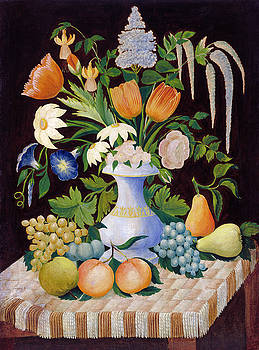 American 19th Century - Flowers and Fruit