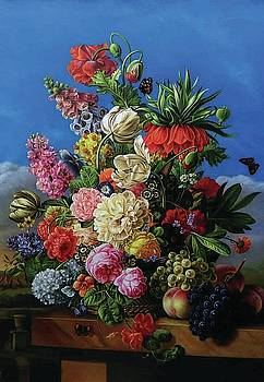Flowers and Fruit Art by Jan Frans van Dael by William Roberts