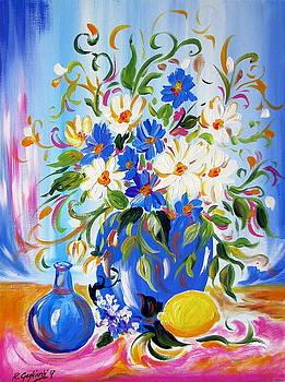 Flowers and lemon by Roberto Gagliardi