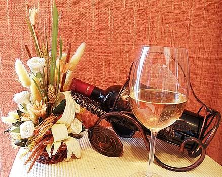 Flowers and wine by Kovats Daniela