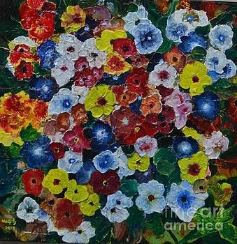 Flowers are beautiful by Usha Rai