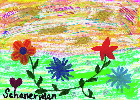 Flowers At The Shore by Susan Schanerman
